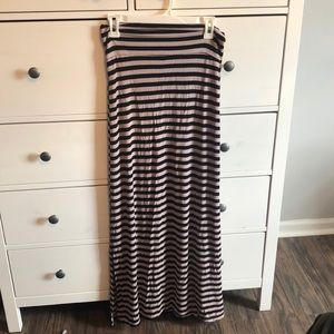 Charlotte Russe Maxi Skirt with double sided slits